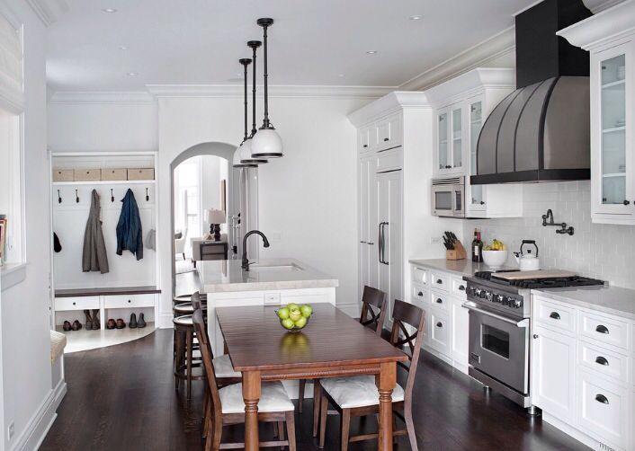 classic white kitchen range by viking custom range hood by vent a