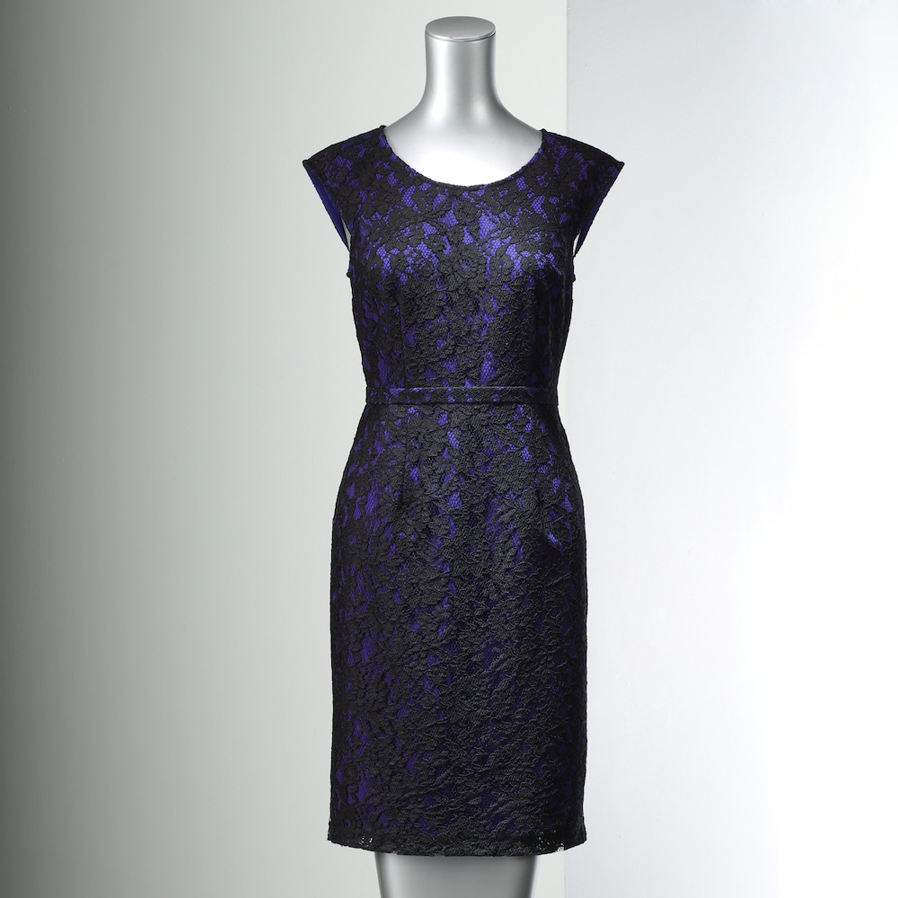 Petite Simply Vera Vera Wang Lace Sheath Dress Lace