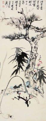 Pin on Chinese Painting-Zhang Daquian 張大千.大風堂弟子