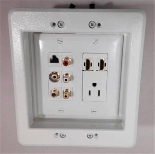 Recessed Wall Sockets Plates On Wall Wall Mounted Tv Recessed Outlets
