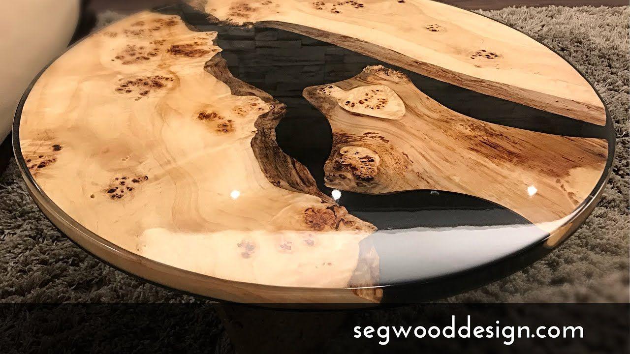 Epoxy Round Coffee Table Black Epoxy And Poplar Wood Resin Table Resin Table Epoxy Resin Table [ 720 x 1280 Pixel ]