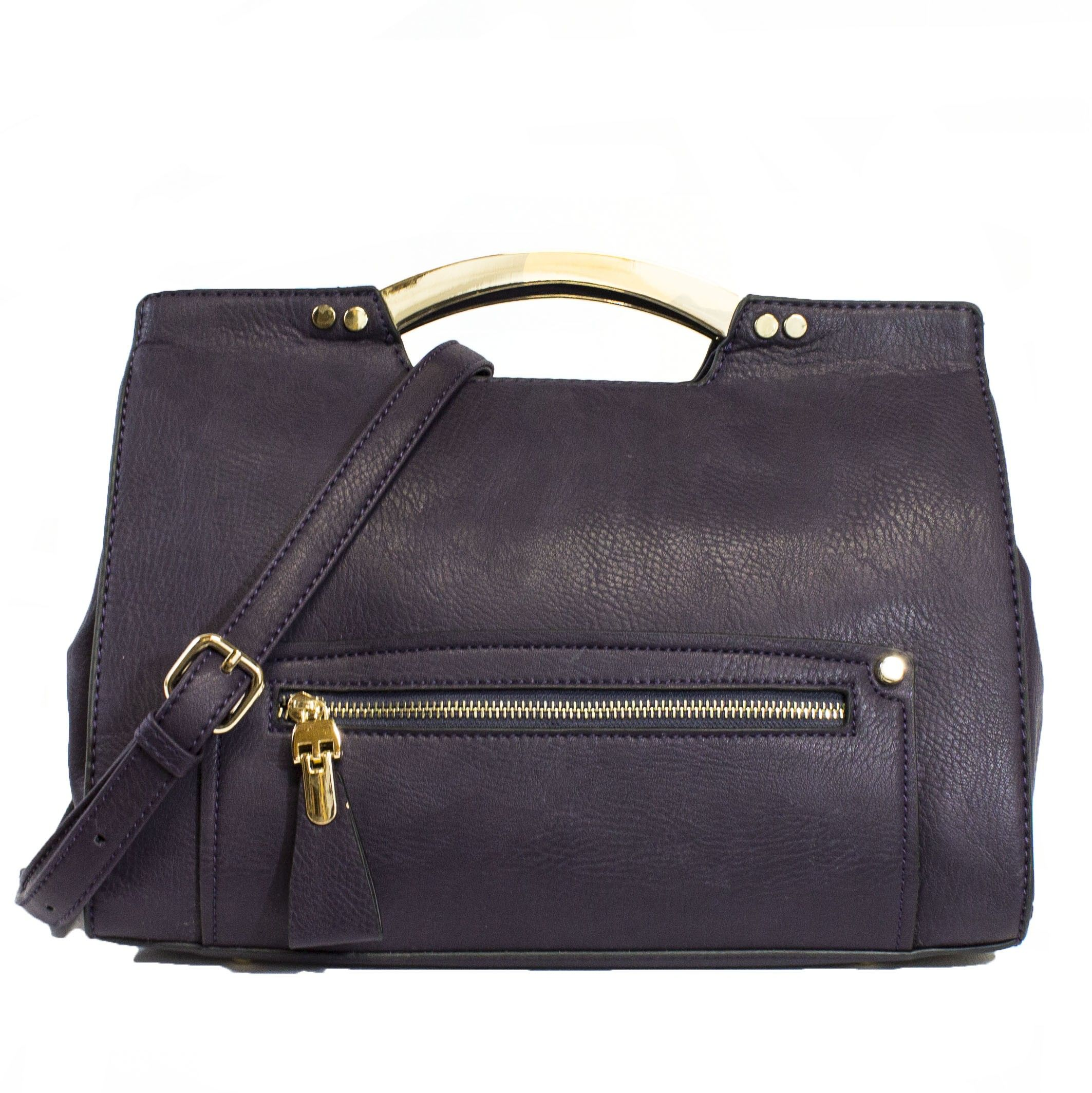 Birklie Structured Satchel Handbag In Purple Handbags Purses Heaven Handbagheaven