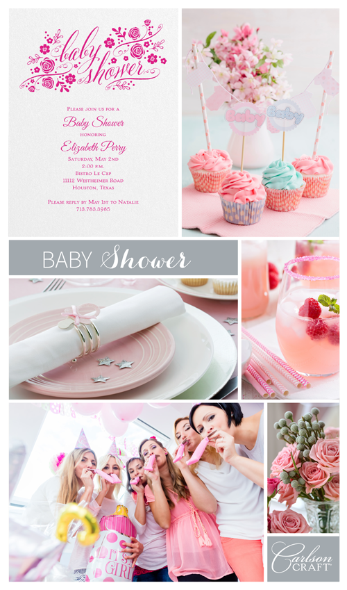 Throwing a baby shower? Start off the celebration with an invitation that sets the tone. The Little Rosebuds Baby Shower Invitation from our new Occasions Galore™ line can be printed in pink ink to match the palette of your party.