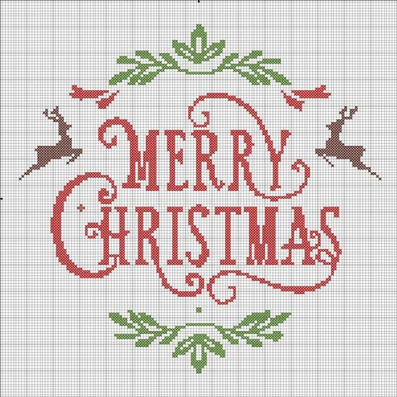 christmas xstitch pattern Christmas cross stitch Christmas Lines Cross stitch pattern Christmas cross stitch pattern christmas tree PDF