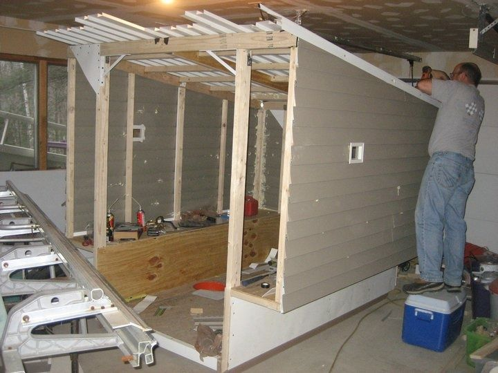 Portable ice fishing shanty plans for Portable greenhouse plans