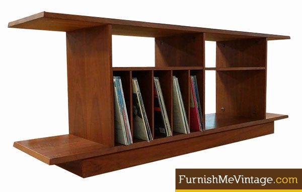 Vintage Bookcase With Vertical Dividers For Record Storage. This Is A Super  Versatile Unit,