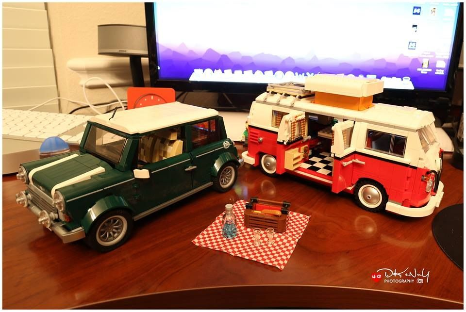 cannot stop building lego mini cooper and volkswagen t1. Black Bedroom Furniture Sets. Home Design Ideas