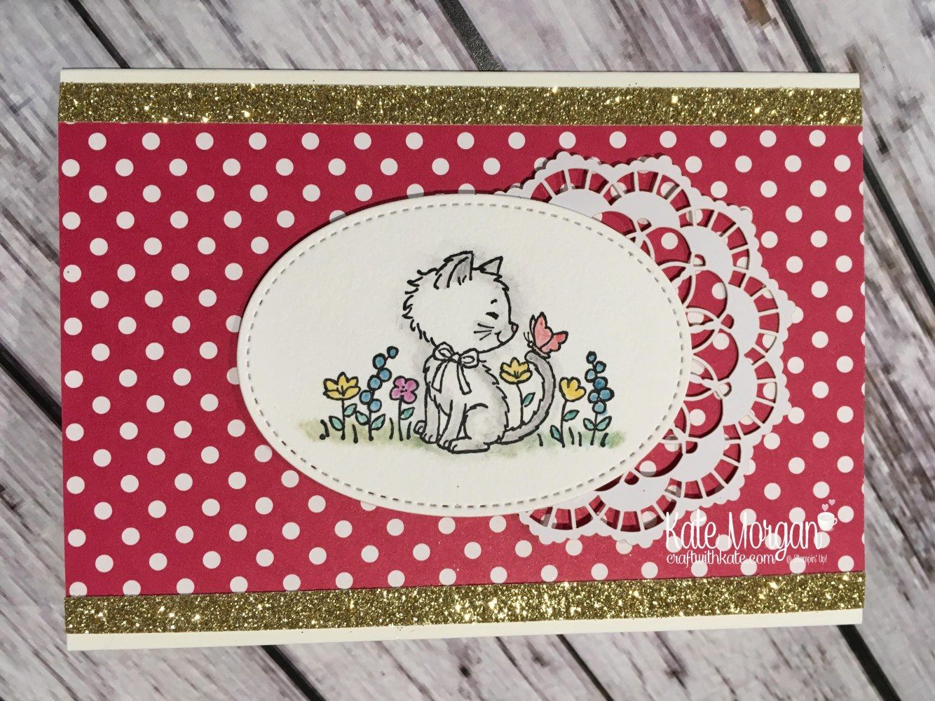 Pretty Kitty by Kate Morgan, Independent Stampin Up demonstrator, Australia Glimmer