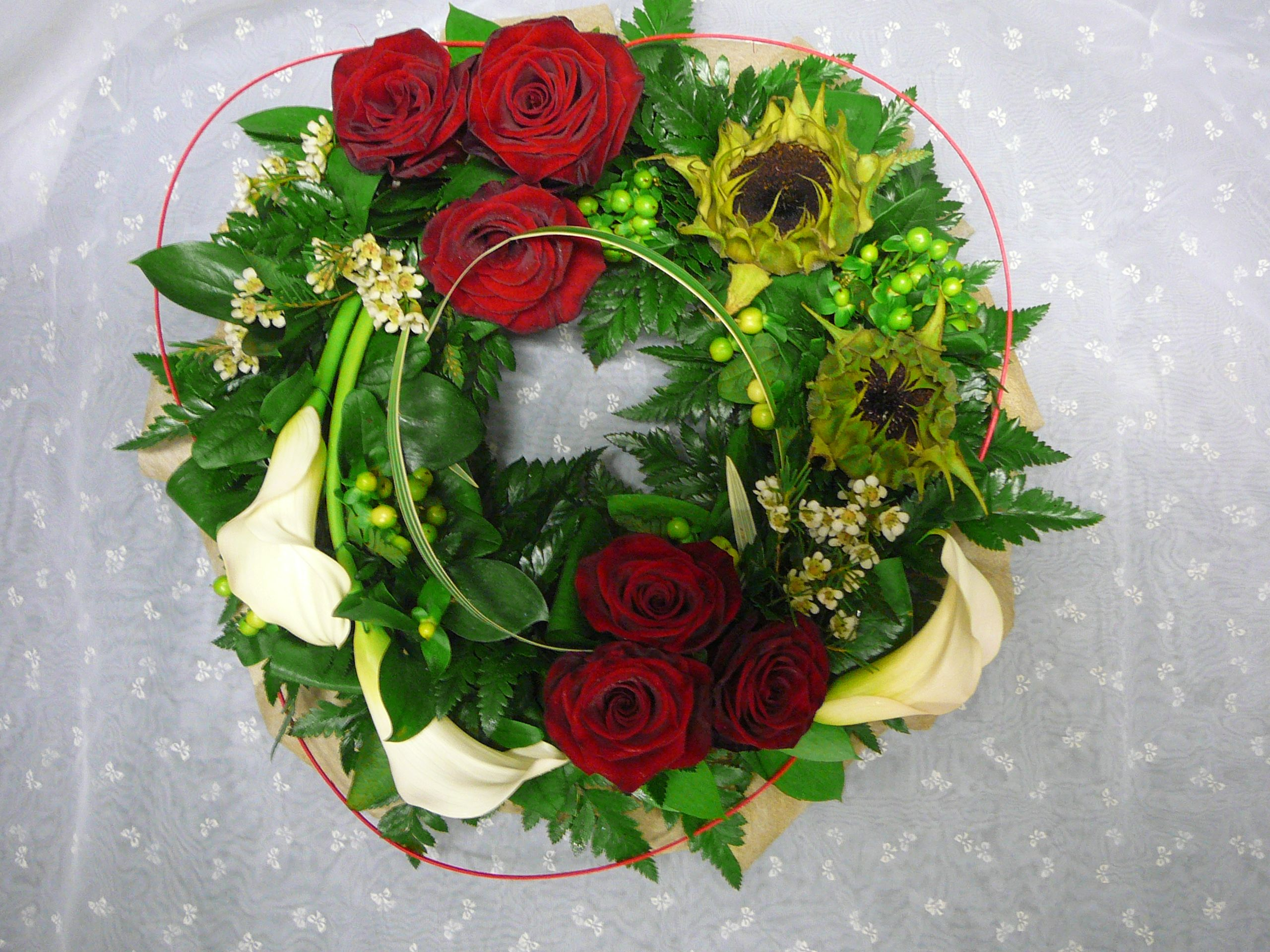Floral cluster of group of flowers and foliage design cluster funeral flowers dhlflorist Image collections