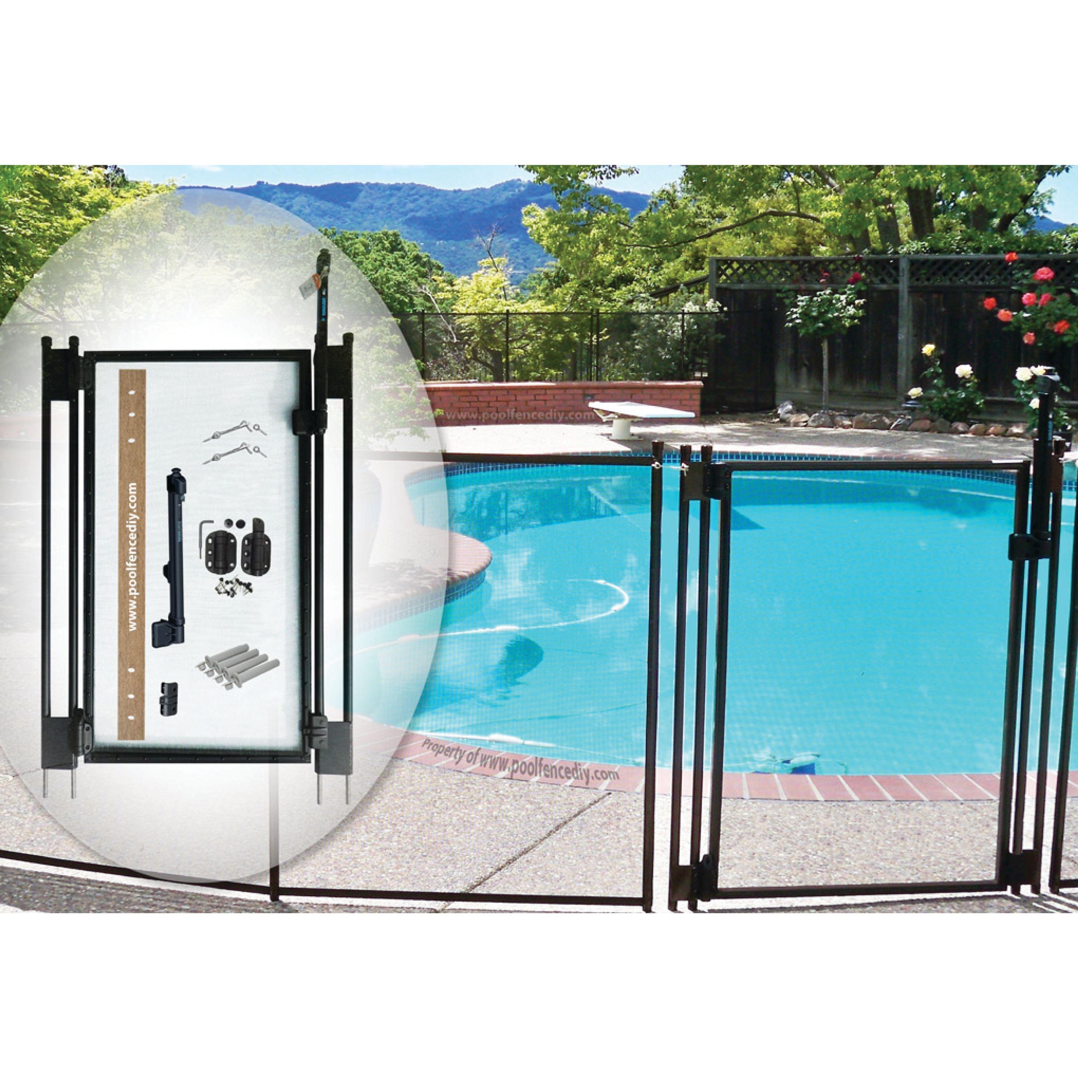 Self Closing Gate Kit By Pool Fence Diy Diy Pool Fence Pool