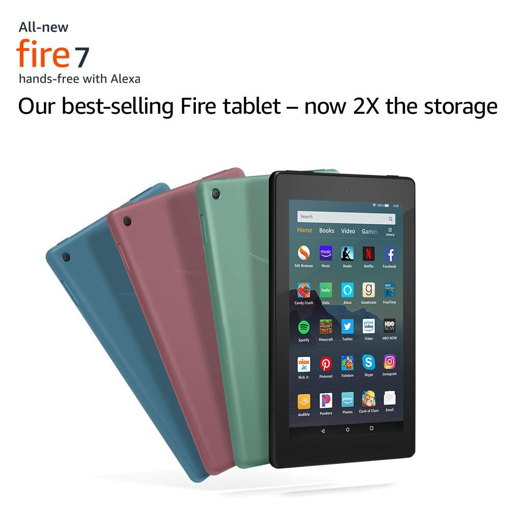 All New Fire 7 Tablet 7 Display 16 Gb Black Tablet Fire Tablet Kindle Fire Tablet