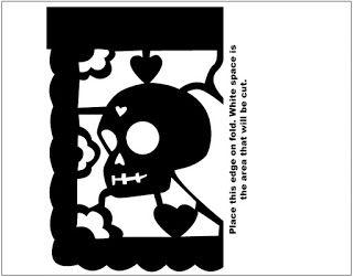 Papel Picado Template | Dia de muertos | Pinterest | Papel picado ...