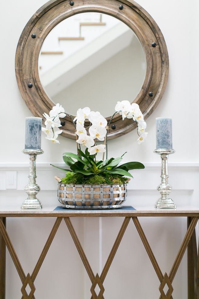 Foyer Console Table And Mirror. I Love How Trish Steele From Churchill  Design Decorates Every Room Without Overdoing It. She Knows How To Balance  A Space ...