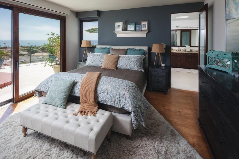15 Chic Ways To Decorate With Slate Gray Color Palette And Schemes For Rooms In Your Home Hgtv Modern Master Bedroom Remodel Bedroom Bedroom Color Schemes