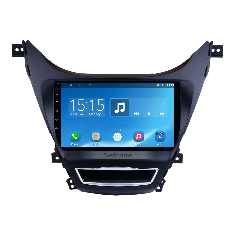 Android 10 0 2012 2014 Hyundai Elantra 9 Inch Hd Touchscreen Radio Bluetooth Gps Navigation Multimedia Player Wifi Usb Carplay Swc Support Obd Dvr Hyundai Elantra Gps Navigation Gps