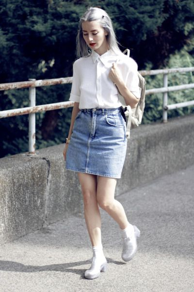 Vintage Red Jelly Shoes How To Wear And Where To Buy Chictopia Denim Fashion Jelly Shoes Outfit Fashion Inspo