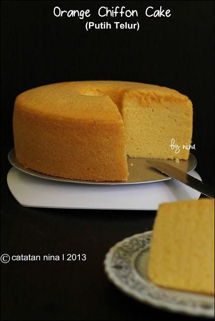 Orange Chiffon Cake Putih Telur Kue Chiffon Kue Buah Kue Lezat