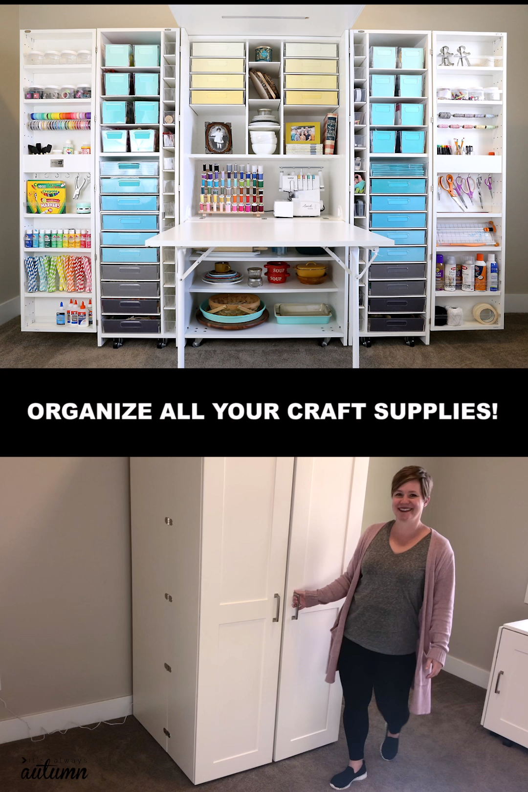 See how my brand new DreamBox has completely transformed my craft room! Click through to the blog for before and after photos, a full video tour of the box, and sale info. #sponsored