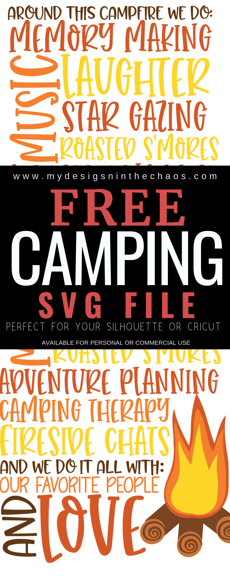 Free Camping SVG Silhouette cameo free, Cricut