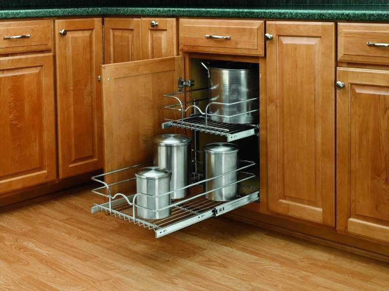 View The Rev A Shelf 5wb2 1522 5wb Series 15 Inch Wide By 22 Deep Base Cabinet Double Pull Out Shelves At Pulirect