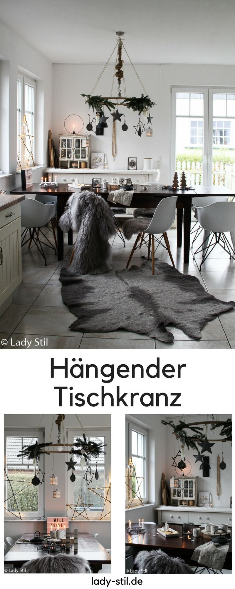 h ngender tischkranz diy lady stil blog pinterest weihnachten dekoration und deko. Black Bedroom Furniture Sets. Home Design Ideas