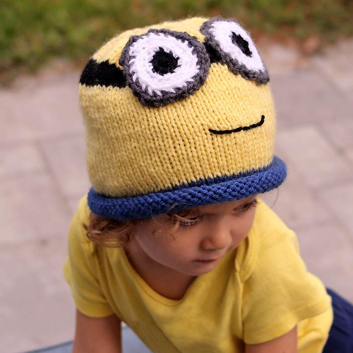 Minion Hat Free Knitting Pattern- perfect for Halloween | Pinterest