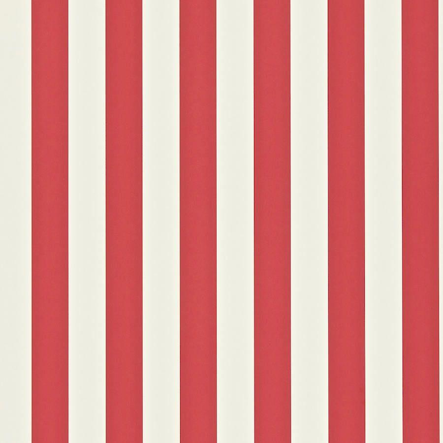 Papel pintado con rayas mimi en color rojo y blanco telas - Papel pintado blanco y gris ...