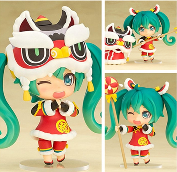 Cheap Anime Hatsune Miku Buy Quality Directly From China Toys Collectibles Suppliers Lion Dance Nendoroid PVC Figure Toy