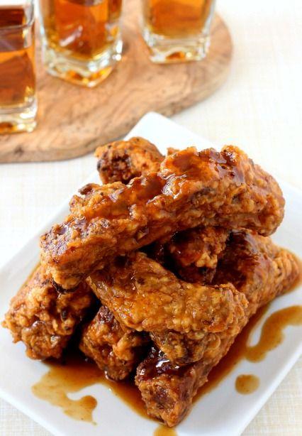 Chicken Fried Ribs With Whiskey Glaze Rib Recipes Beef Ribs Recipe Recipes