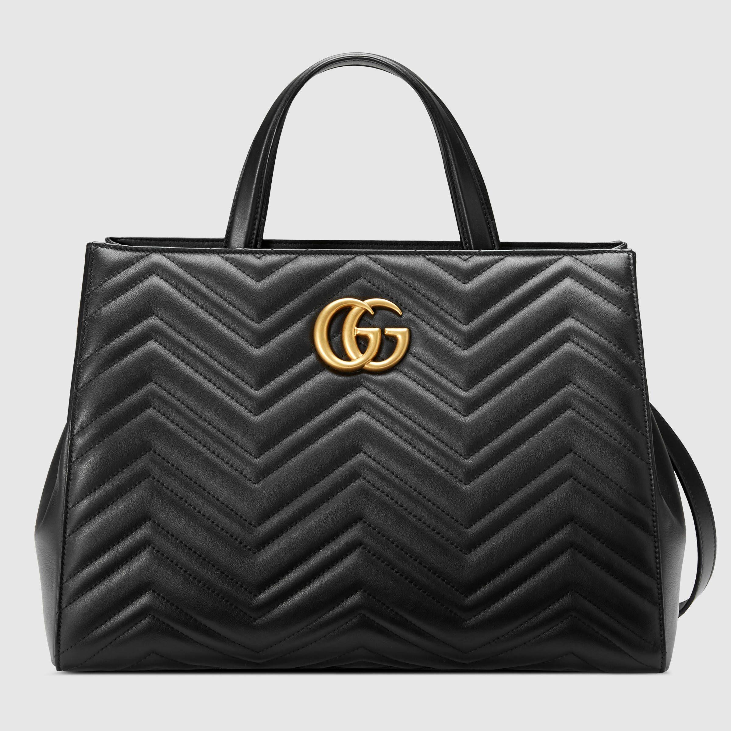 ca8eeeac GG Marmont matelassé top handle bag - Gucci Women's Top ...