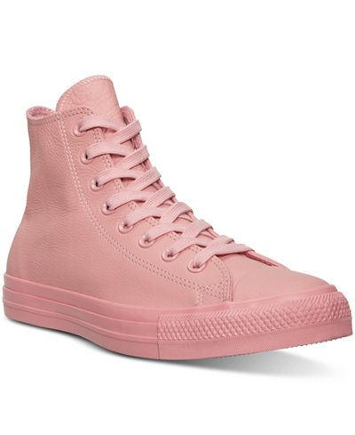0e11841d387c Converse Women s Chuck Taylor Hi Pastel Leather Casual Sneakers from Finish  Line (Daybreak Pink)