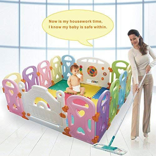 c239a5a5d Baby Playpen Kids Activity Centre Safety Play Yard Home Indoor ...