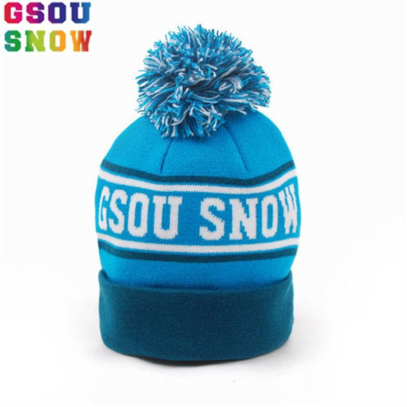 b139bf1f GSOU SNOW Winter Kids keep warm Ski Hat Outdoor Ski Snowboard Thermal Hat  Baby Boys Girls
