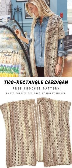 Two Rectangle Cardigan Crochet Apparel Crochet Patterns