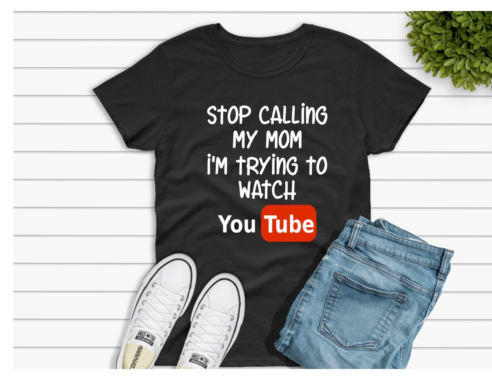 1f25854830 Excited to share this item from my #etsy shop: Stop Calling My Mom I'm  Trying to Watch Youtube, Kids Funny Shirt, Kids Youtube Shirt, Funny  Toddler Shirt, ...