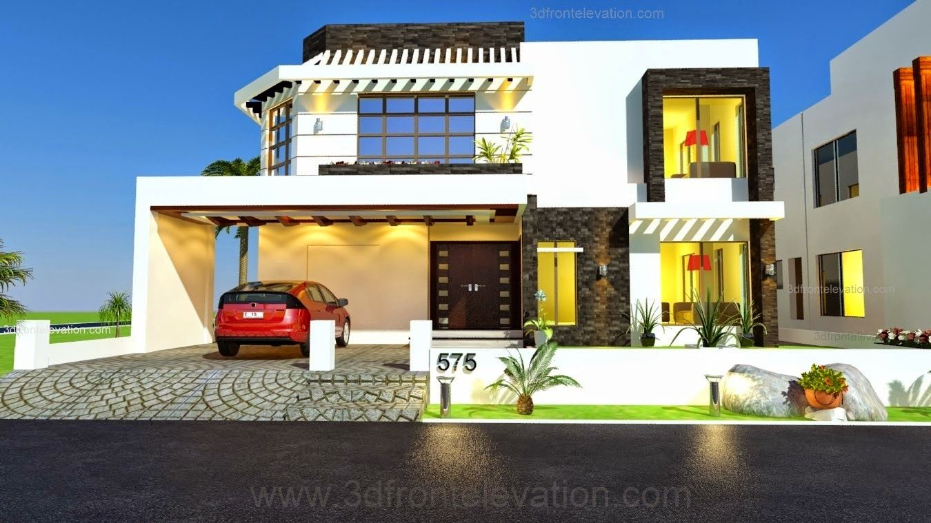 Sample Front Elevation Values : Kanal house drawing floor plans layout design plot