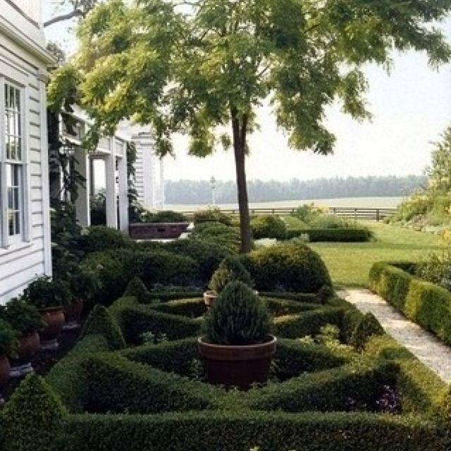 Formal Garden Design Idea: Small Formal Boxwood Garden