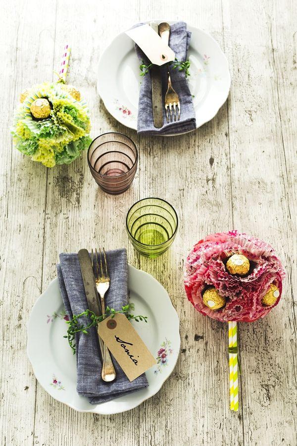 Diy per la tavola di primavera con ferrero rocher artistic photography ferrero rocher diy - Tavola di primavera idee ...