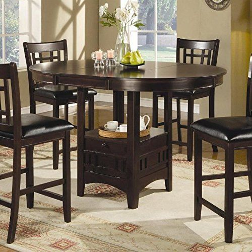 Riverdale Cherry 5 Pc Square Counter Height Dining Room  New Impressive Coaster Dining Room Furniture Decorating Design
