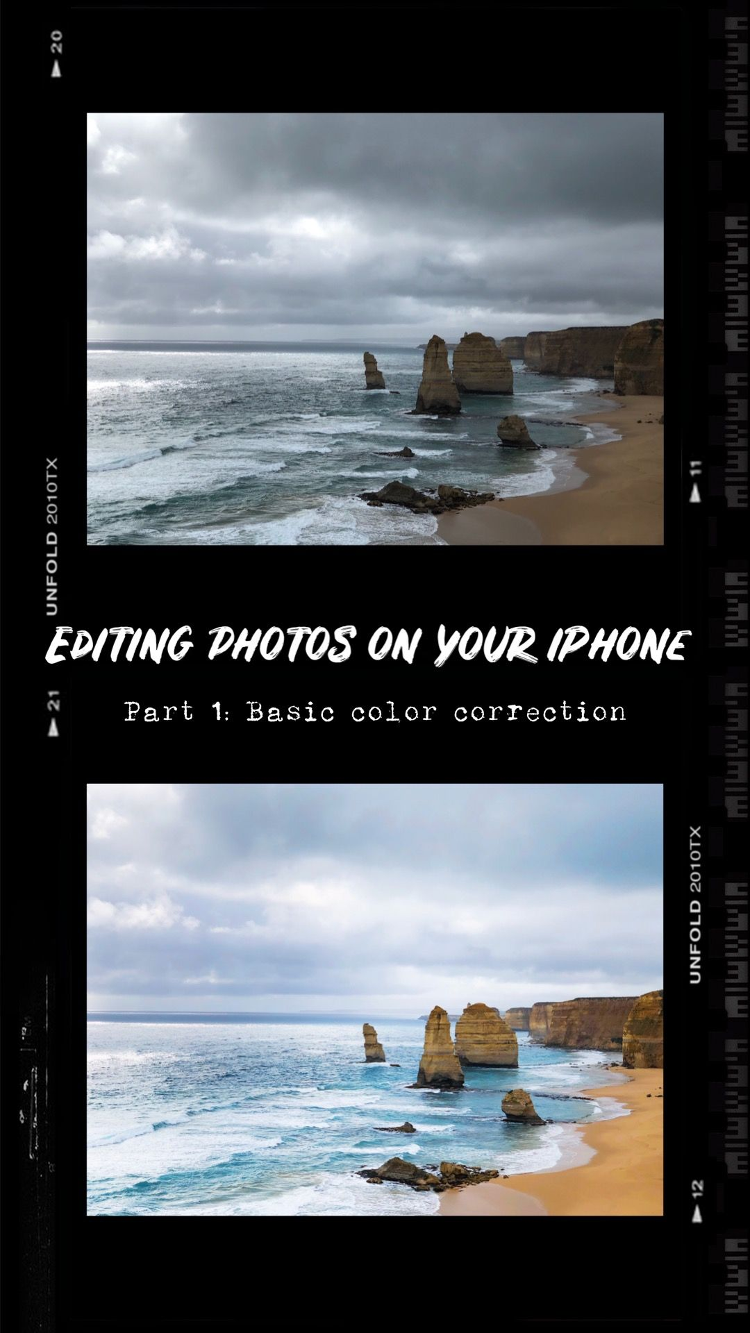 Editing Photos On Your Iphone Part 1 Basic Color Correction Photo Editing Color Correction Photography Tips Iphone