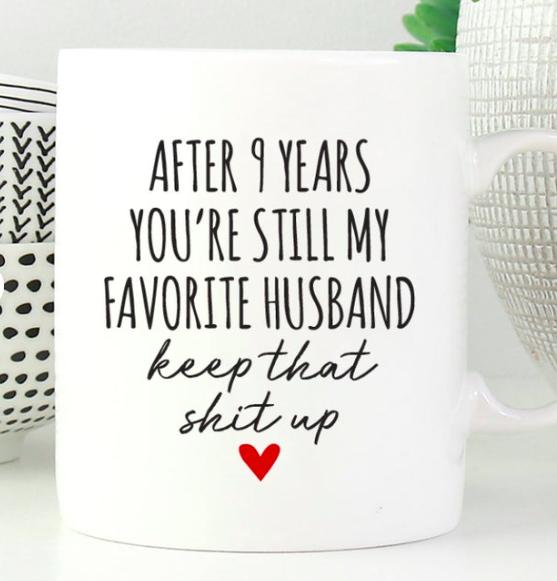 9 Year Anniversary Gift for Husband 9th Anniversary Gift