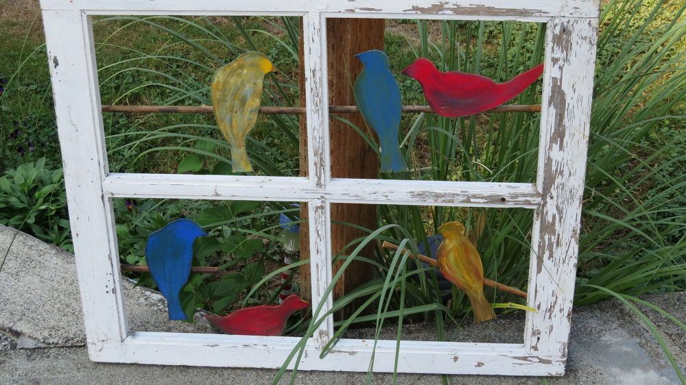Birds on a wire diy projects to try window projects