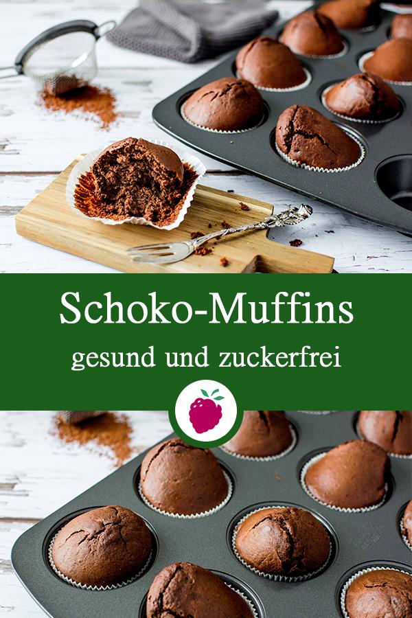 Gesunde Schoko-Muffins - zuckerfrei