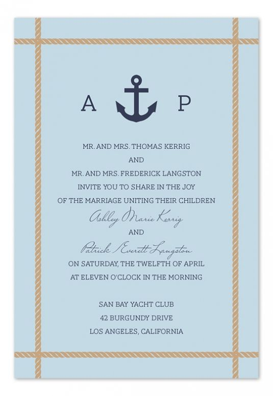 Cruise Wedding Invitation Wording Examples To Give Extra Inspiration