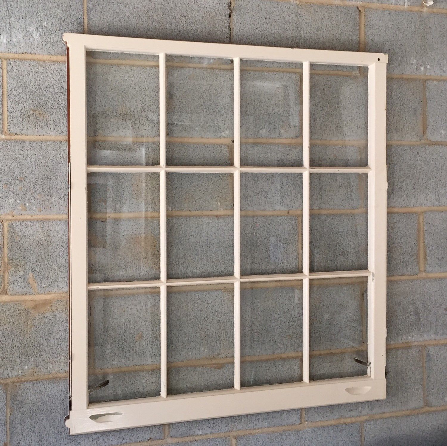 Vintage 12 Pane Window Frame 36 X 40l White Rustic Antique Wedding Beach Decor Photos Pictures Engagement Holiday Business