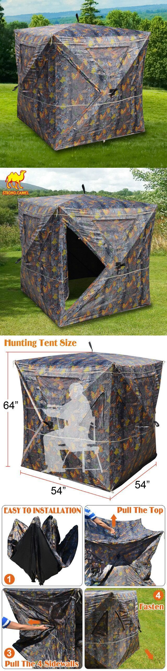 Blinds 177910 New 2-3 Person Camouflage Hunting Blind Ground Deer Archery Outhouse Camo & Blinds 177910: New 2-3 Person Camouflage Hunting Blind Ground Deer ...