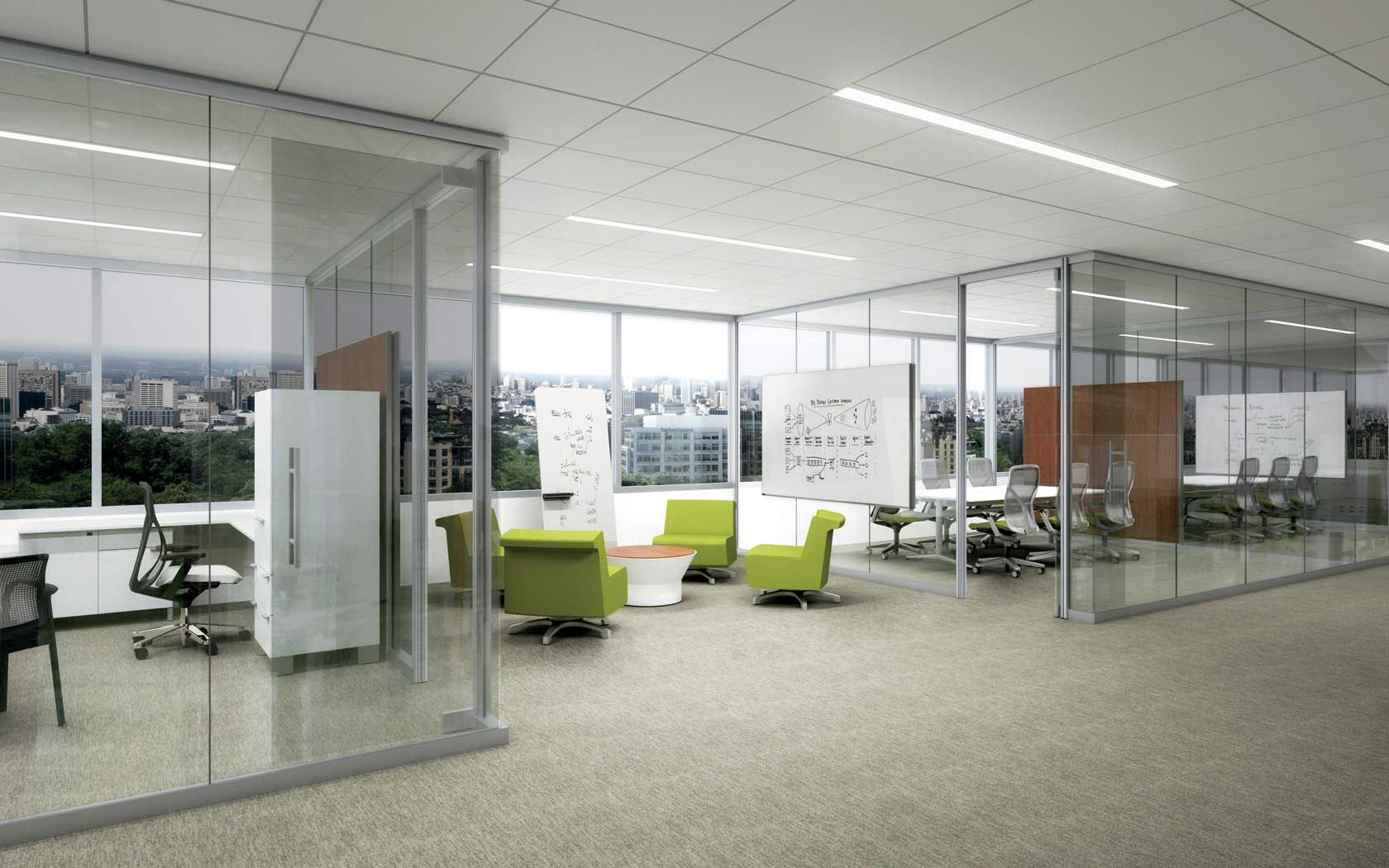 Commercial Office Furniture Throughout Modern Seagate Interiors