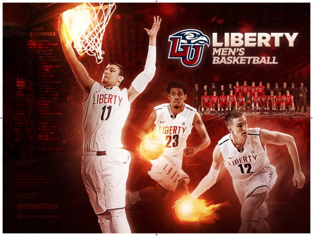 Liberty Mbb Basketball Posters College Athletics Mens Basketball