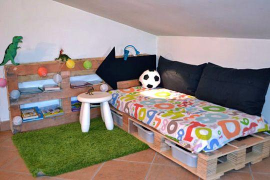 8 ideas con pallets para cuartos infantiles reading - Habitaciones infantiles de ninos ...