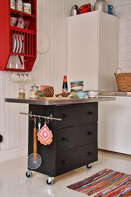 Isla cocina decoracion design pinterest mesas y for Como hacer una isla para cocina pequena